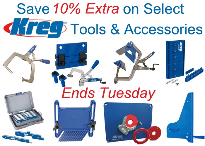 10% Bonus Savings on Select KREG Tools and Accessories